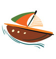 painting of colorful sailing boat or color vector image vector image