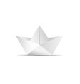 paper boat icon vector image
