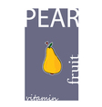 pear fruit color vector image vector image
