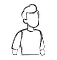 portrait of a young man avatar vector image vector image