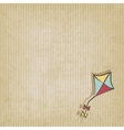 retro background with kite vector image vector image