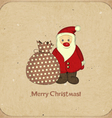 Santa and bag with gifts vector image