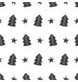 Scandinavian forest trees nordic seamless pattern