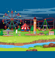 scene background design with many rides vector image