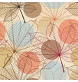 Seamless pattern with autumn leaves in a retro