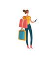 shopping woman beautiful fashion buyer vector image vector image