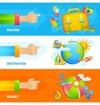Summer Vacation Banner Set vector image