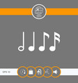 symbol of music notes sixteenth note eighth vector image vector image