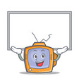up board tv character cartoon object vector image vector image