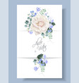 vintage floral wedding card with rose vector image vector image