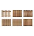 vnn wood fence-02 vector image vector image