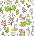 wild floral colorful seamless pattern vector image vector image