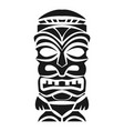 wood idol icon simple style vector image vector image