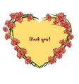 yellow orchids heart shaped wreath on the white vector image