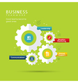 Business Teamwork Concept with Gear icons vector image