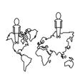 community world social media network thin line vector image