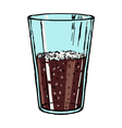glass of cola vector image