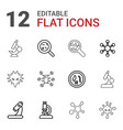 12 virus icons vector image vector image