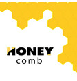 abstract honeycomb logo honeycomb background vector image vector image