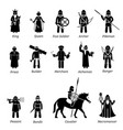 ancient medieval characters classes and warriors vector image vector image