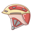 bike helmet icon cartoon style vector image