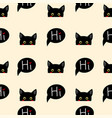 black cat sneaking on beige ivory background vector image