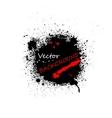Black ink blots background vector image vector image