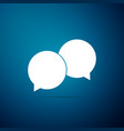 blank speech bubbles icon on blue background vector image vector image