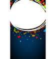 Blue background with confetti vector image vector image