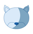 blue color shading silhouette faceless of cat vector image vector image
