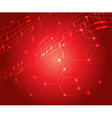 bright red music background with gradient vector image vector image