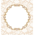 Card with pearl frame