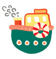 cartoon of a colorful boat or color vector image vector image