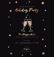 christmas party invitation black and gold foil vector image vector image
