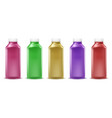 colorful bottles for juice paint liquid vector image vector image