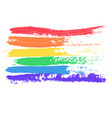 conceptual poster with lgbt rainbow flag vector image