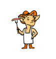 cowboy billy goat barbecue chef mascot vector image vector image