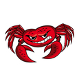 crab mascot icon vector image