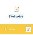 creative document logo design flat color logo vector image