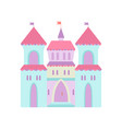 cute castle fairytale medieval fortress colorful vector image vector image