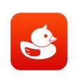 duck icon digital red vector image vector image