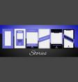 editable social media stories for phone vector image