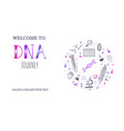 ethnicity and genealogy dna genetic test vector image