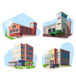 firehouse hospital police deparment military vector image