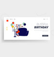 first babirthday celebration party website vector image