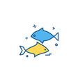fish icon design vector image vector image