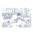 freehand sketch of furnished interior of fancy vector image vector image