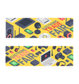 gadget pattern digital device with display vector image vector image