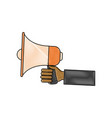 hand holding speaker loud marketing business vector image vector image