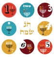 hanukkah 8 candles for eight day holiday happy vector image vector image